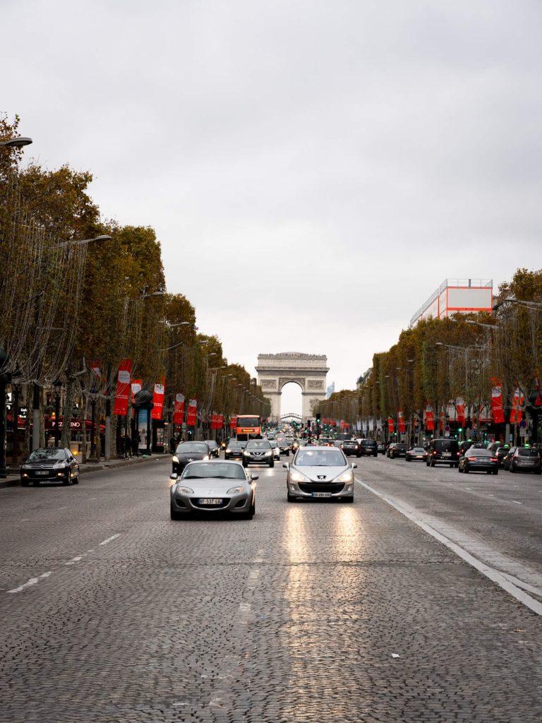 View up to Arc De Triomphe